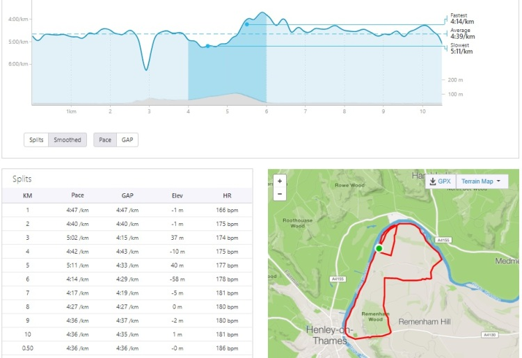 henley trail run pace analysis