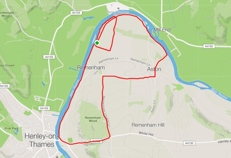 Henley trail run trace